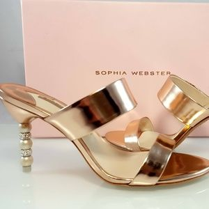 NWT Sophia Webster Women's Rosalind Rose Gold S 37